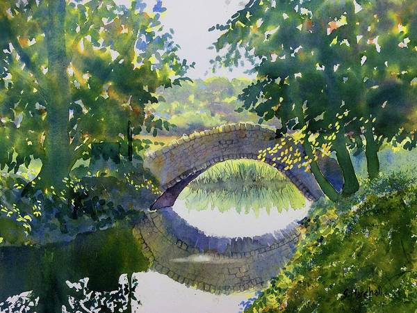 Watercolour Art Print featuring the painting Bridge Over Gypsy Race by Glenn Marshall