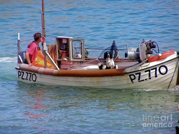 Landscape Art Print featuring the photograph Doggone Fishin by Terri Waters