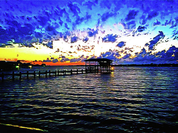 Gulf Shores Art Print featuring the photograph Gulf Shores Sunset by Chip Evans