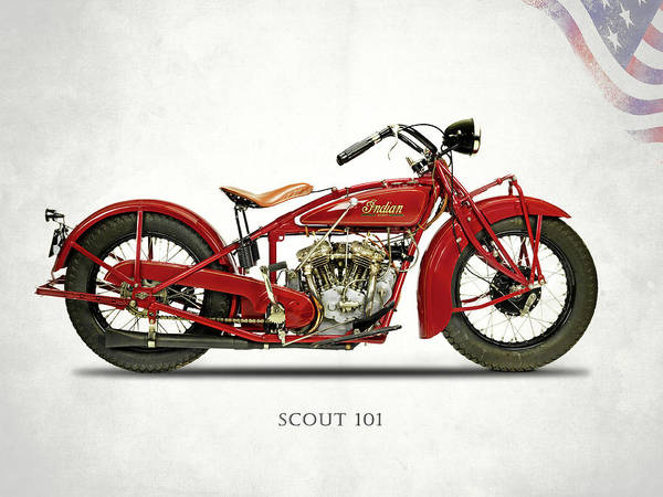 Indian Scout 101 Art Print featuring the photograph The Scout 101 1929 by Mark Rogan
