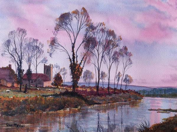 Glenn Marshall Art Print featuring the painting Waiting For Sunset by Glenn Marshall