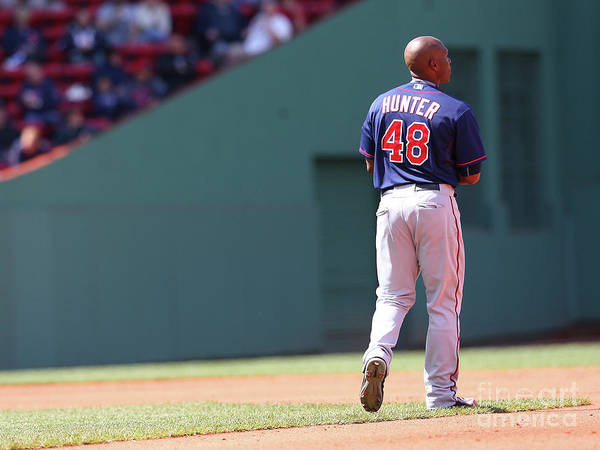 People Art Print featuring the photograph Torii Hunter by Jim Rogash