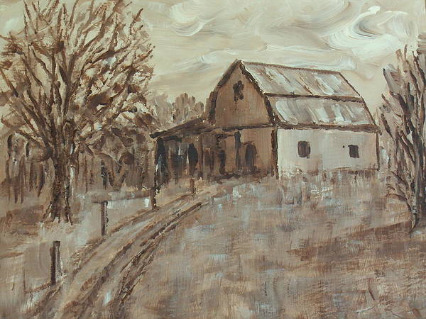 Barn Art Print featuring the painting Mcginnis Barn by Pete Maier
