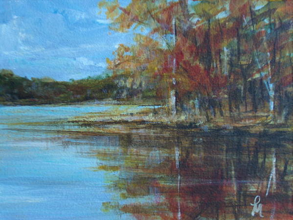 Lakescape Art Print featuring the painting Better Days by Pete Maier