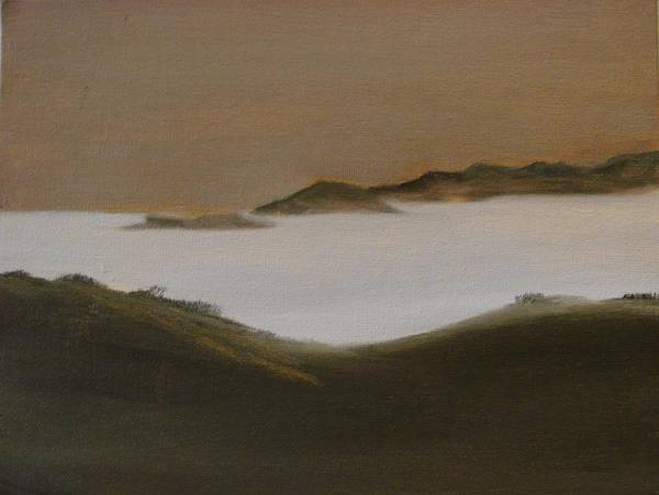Landscape Art Print featuring the painting Twilight Anacapa Island by Dottie Briggs