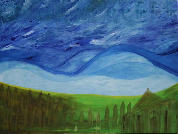 Art Print featuring the painting Fresh Breez From Dream World by Prakash Bal Joshi