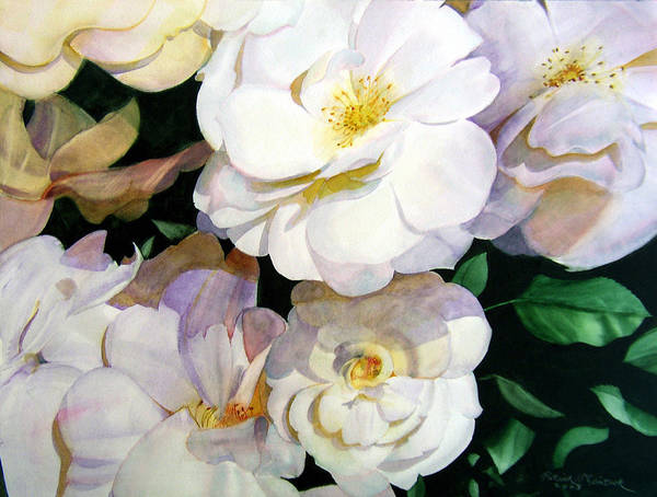 Floral Roses Art Print featuring the painting Big Floral by Patrick McClintock