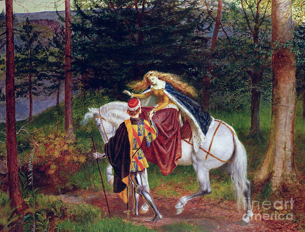 Horse Art Print featuring the painting La Belle Dame Sans Merci by Walter Crane