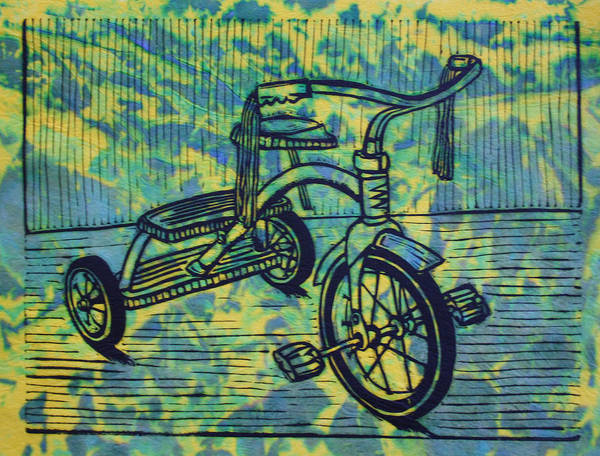 Tricycle Art Print featuring the drawing Tricycle by William Cauthern