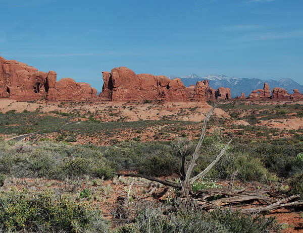 North Window Art Print featuring the photograph Arches North Window Rock by Daniel Hebard
