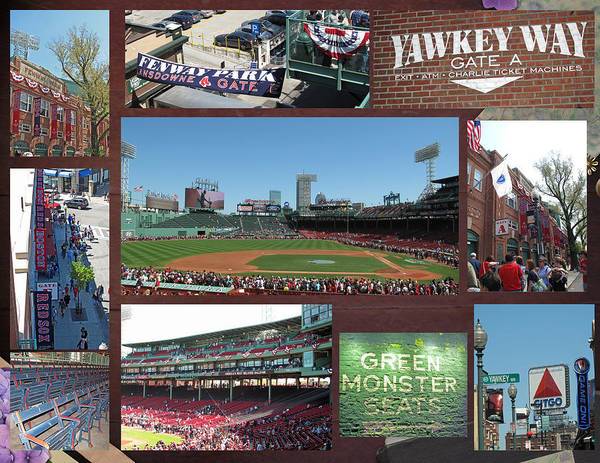 Fenway Art Print featuring the photograph Baseball Collage by Barbara McDevitt