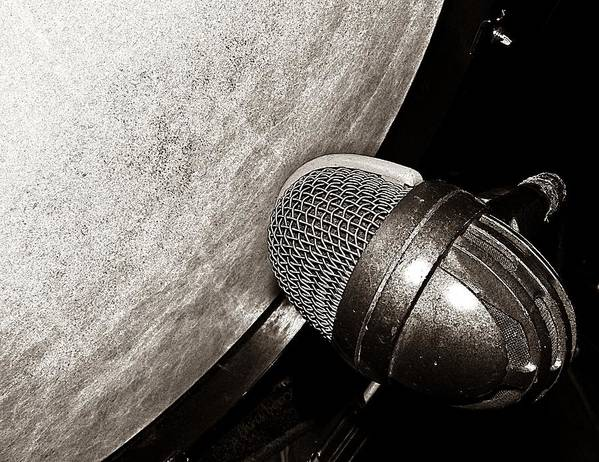 Music Art Print featuring the photograph Bass Drum And Mic by Chris Berry