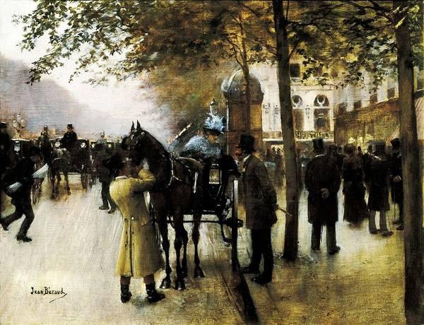 Horizontal Art Print featuring the photograph Beraud, Jean 1849-1935. The Boulevards by Everett