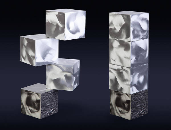 Abstract Art Print featuring the sculpture Blocks by Rick Roth