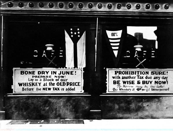 Bone Dry In June - Prohibition Sale Art Print featuring the photograph Bone Dry In June - Prohibition Sale by Bill Cannon