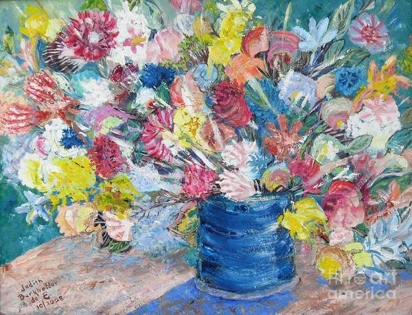 Flowers Art Print featuring the painting Bouquet 1 - Sold by Judith Espinoza