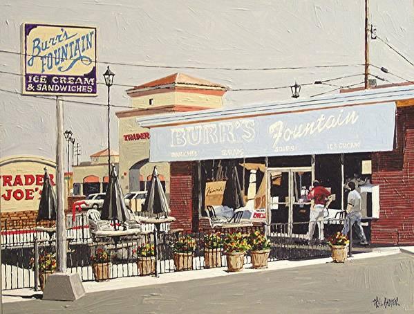 Sacramento Art Print featuring the painting Burr's On Folsom Boulevard by Paul Guyer