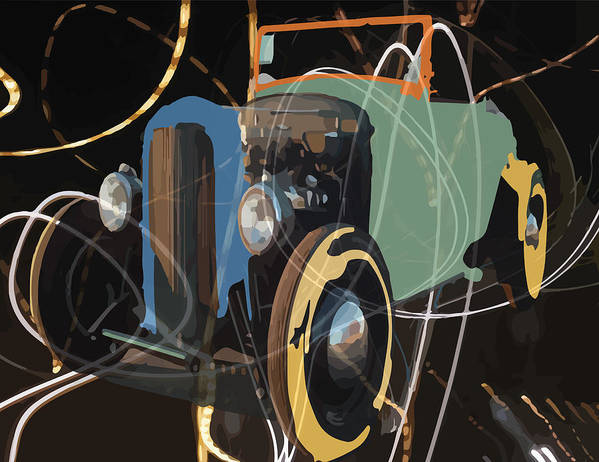 Cars Art Print featuring the digital art Cars And Stars by Andrew and Mary Cloninger