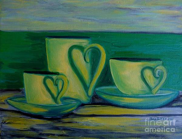 Coffee Art Print featuring the painting Coffee Lovers by Julie Brugh Riffey