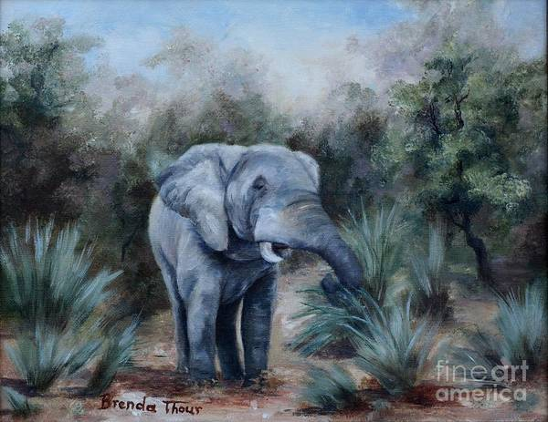 Wildlife Art Print featuring the painting Coming Through by Brenda Thour