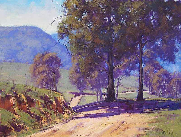 Rural Art Print featuring the painting Country Road Oberon by Graham Gercken