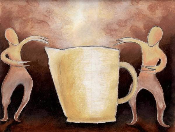 Cup Art Print featuring the drawing Creator Of The Coffee by Keith Gruis