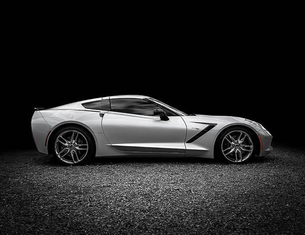 Corvette Art Print featuring the digital art 2014 Corvette Stingray 2014 by Douglas Pittman