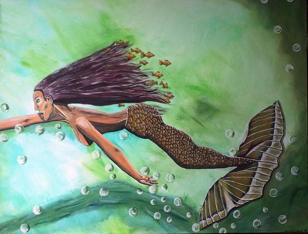 Menschen Art Print featuring the painting Dream by Mamu Art