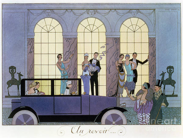 Print Art Print featuring the painting Farewell by Georges Barbier