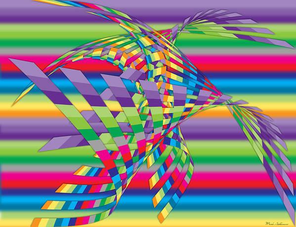 Contemporary Art Print featuring the digital art Geometric 3 by Mark Ashkenazi