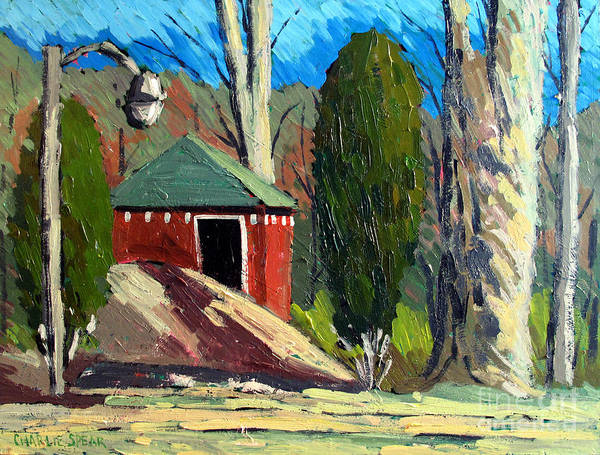 Golf Course Print featuring the painting Golf Course Shed Series No.14 by Charlie Spear