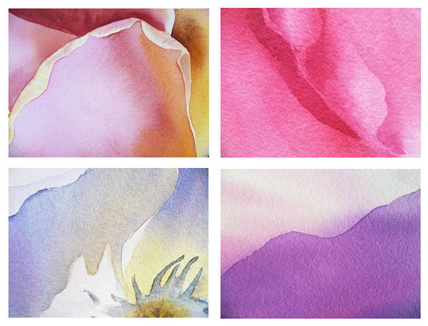 Petals Art Print featuring the painting It Is All In Petals by Irina Sztukowski
