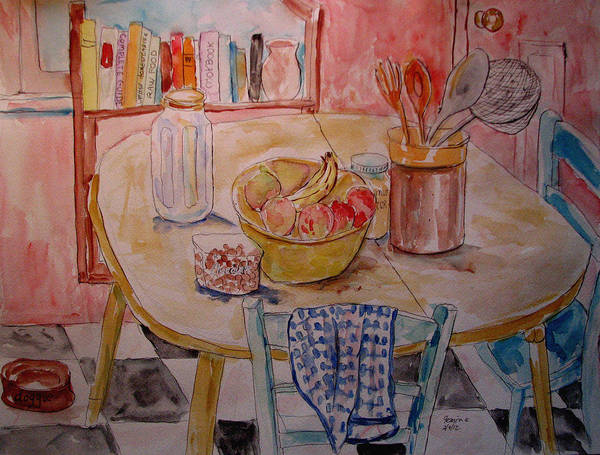 Still Life Art Print featuring the painting Kitchen In Nashville by Lucille Femine