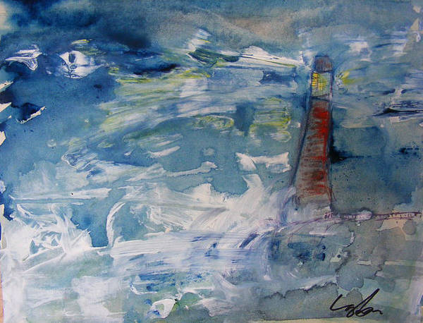 Lighthouse Art Print featuring the painting Lighthouse by James Layton