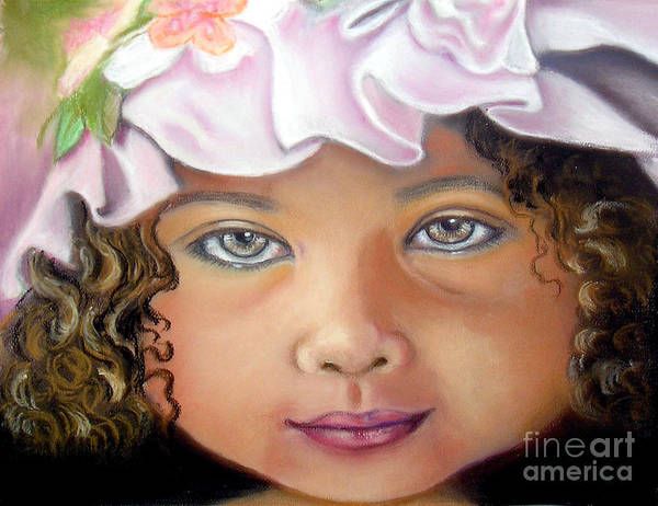 Hat Art Print featuring the pastel Love My New Hat by Lamarr Kramer