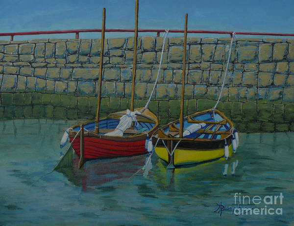 Rock Art Print featuring the painting Low Tide by Anthony Dunphy