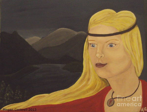 Pagan Art Print featuring the painting Norse Goddess Freya by Megan Cockrell