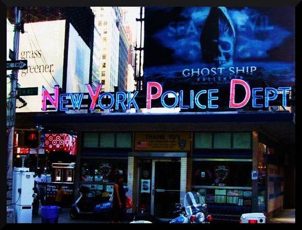 Nypd Art Print featuring the photograph Nypd Time Square by Art by Dance