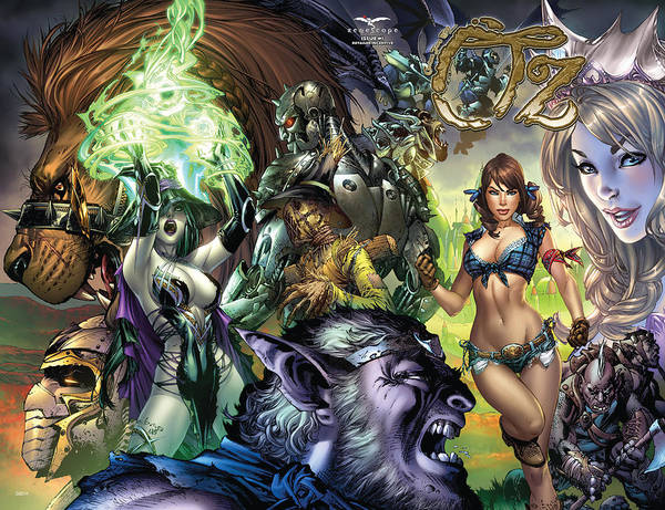 Grimm Fairy Tales Art Print featuring the digital art Oz 01k by Zenescope Entertainment