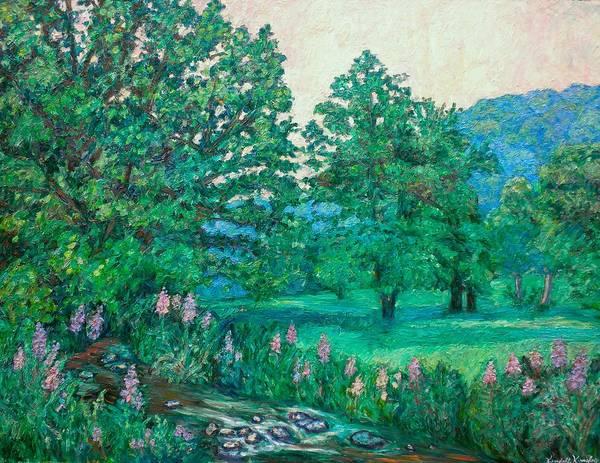 Landscape Art Print featuring the painting Park Road In Radford by Kendall Kessler