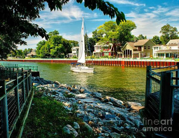 Channel Art Print featuring the photograph Pentwater Channel Michigan by Nick Zelinsky