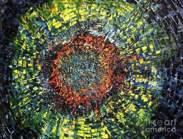 Supernova Art Print featuring the painting Physiological Supernova by Michael Kulick