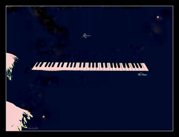Piano Art Print featuring the mixed media Piano by YoMamaBird Rhonda