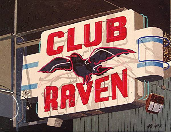 Sacramento Art Print featuring the painting Raven Club by Paul Guyer