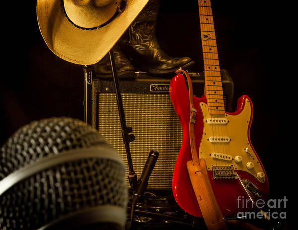 Guitar Art Print featuring the photograph Show's Over by Robert Frederick
