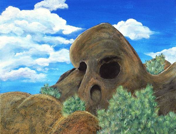 Malakhova Art Print featuring the painting Skull Rock by Anastasiya Malakhova