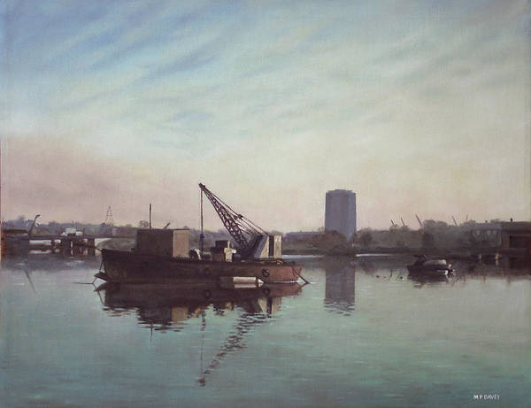 Southampton Art Print featuring the painting Southampton Northam River Itchen by Martin Davey