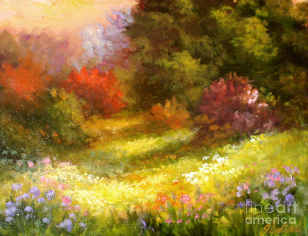 Springtime In Country Art Print featuring the painting Spring Song by Gail Salitui