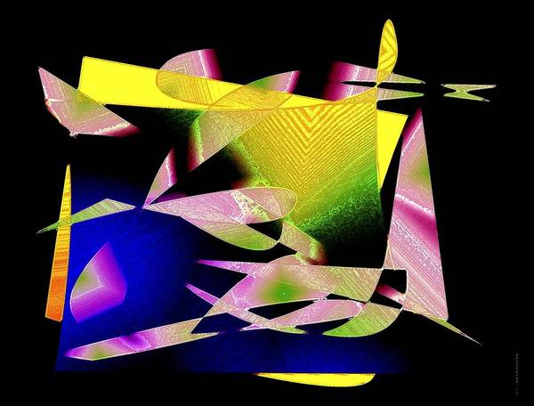 Color Art Print featuring the digital art Still Life In Geometric Art by Mario Perez