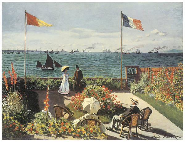 Terrace At Sainte-andresse Art Print featuring the painting Terrace At Sainte-andresse by Claude Monet